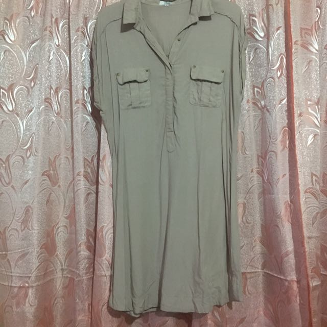SM Tan Short Sleeves Dress XL