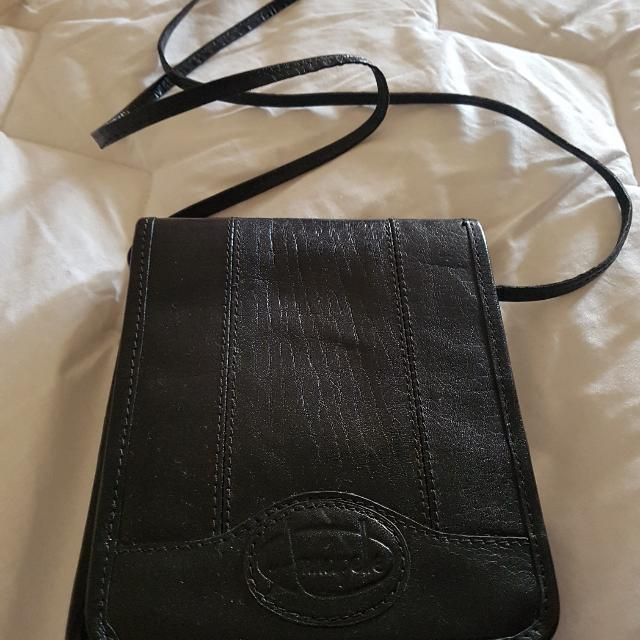 Small Black Leather Bag.