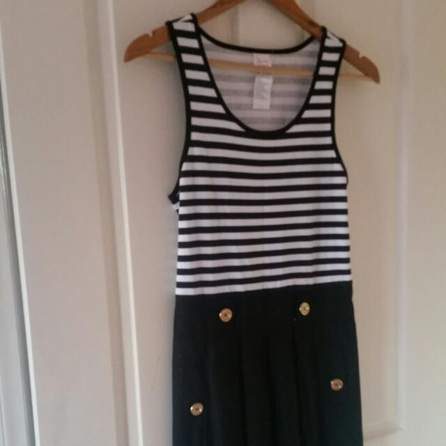 Striped Dress With Detailing