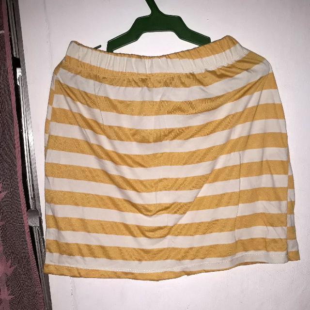 Stripes Yellow Skirt