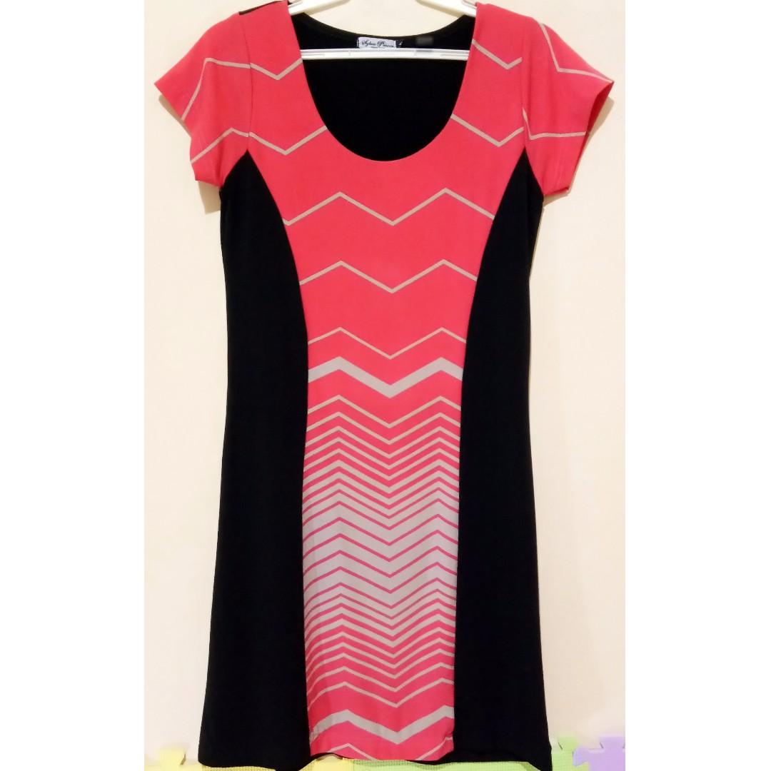Sylvia Pinero Red & Black Dress