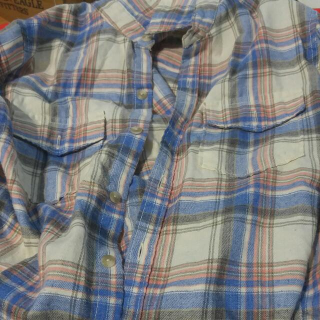 TNA plaid shirt