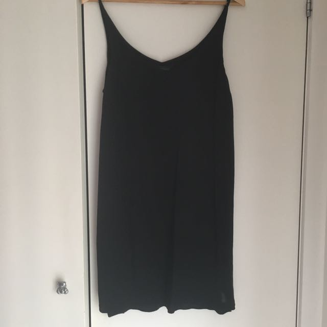 Topshop Black Slip Dress