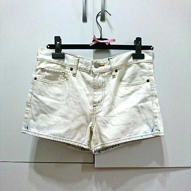 Uniqlo全新 刷白 牛仔短褲
