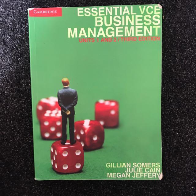 VCE Business Management Unit 1&2