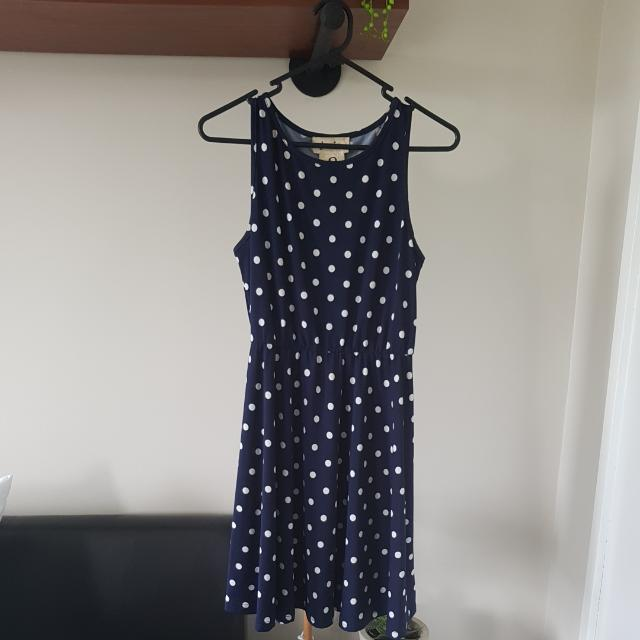 Vintage Style Polka Dot Dress Size 8