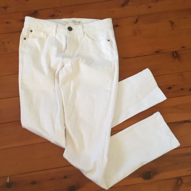 White Denim Stretch Jeans