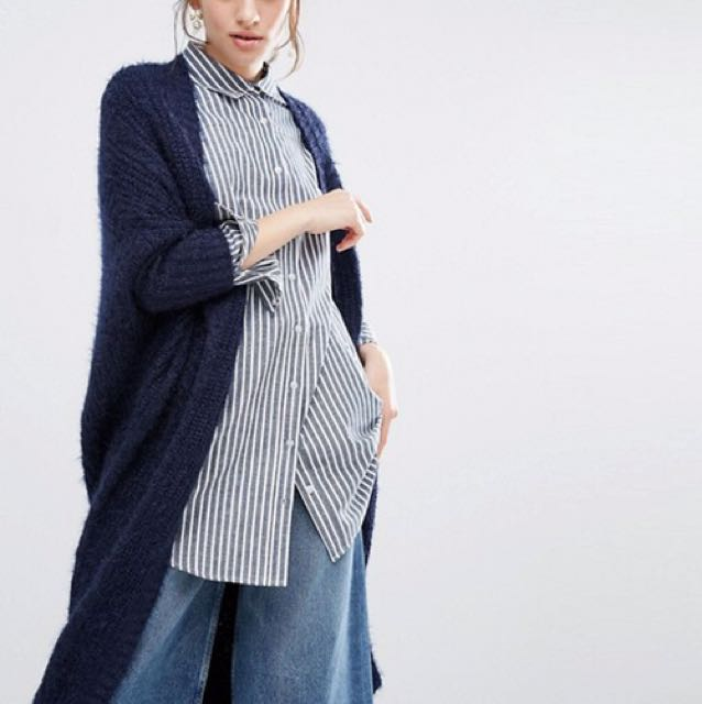 willow and paige maxi cable knit cardigan Asos