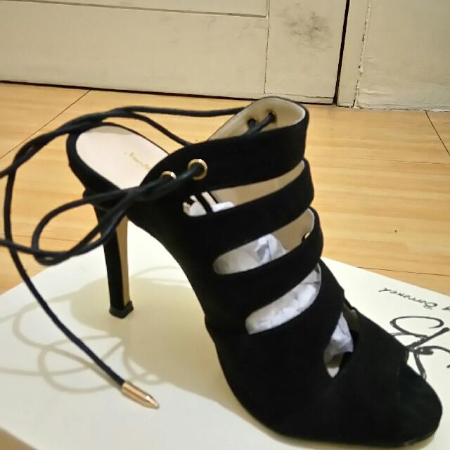 Zalora Cut Out Lace-up Heels