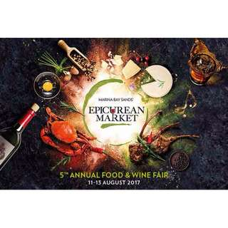 2 X Epicurean Market Tickets