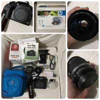 Canon Rebel XS (1000D) with FREE HP Photosmart A320