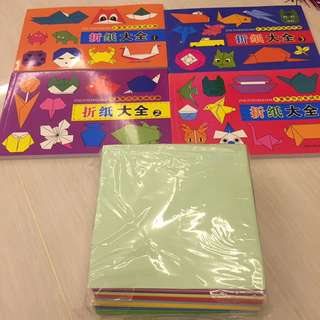Brand New Origami Books With Papers (in Chinese)