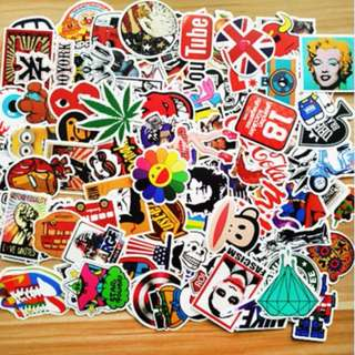 100pcs/ set Graffiti Sticker Car Styling Skateboard Fridge Vinyl Decals Luggage Home Decor Laptop Toy Kids DIY Cute Stickers