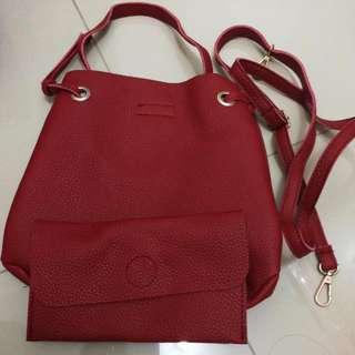 2in1 Maroon Bag