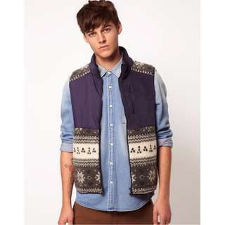ASOS Fleece Vest - Size Small