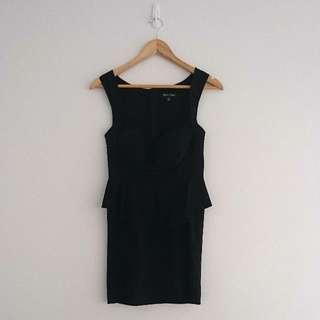 Size 10 Peplum Black Dress