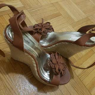 Brown Wedge Size 7.5 New!