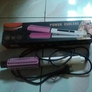 Sonar power curles (catokan sisir 2in1)