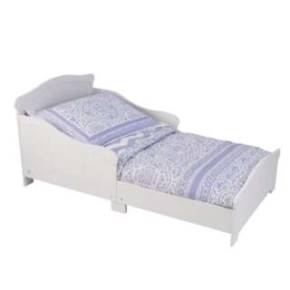 White Toddler Bed With Crib Mattress