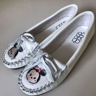 Disney Tsum Tsum Leather Tassel Embroided Women Shoe