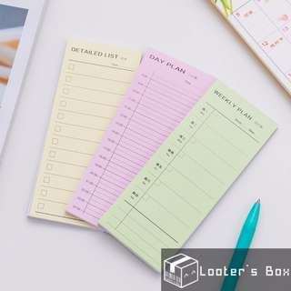 Daily Weekly & Checklist Planner Schedule Memo Pad