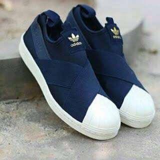 ADIDAS Superstar Slip-On Shoes Navy Blue