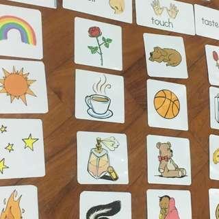 DIY 5 Senses activity sorting cards