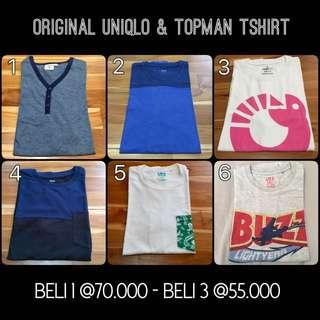 Uniqlo, Topman & SPRZNY T Shirt / Kaos (3 Pcs)