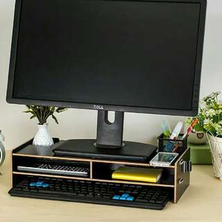 Computer Monitor Table / Computer Monitor Stand (Black)
