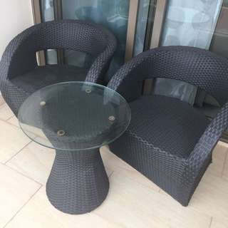 Rarely Use Outdoor Balcony Table And Chair Set