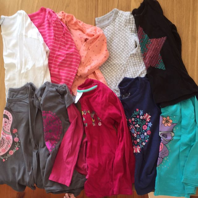 10xSize 5 Girls Long Sleeve Shirts