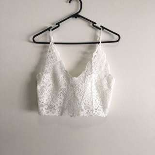 Lace Cami Strap Lingerie With Zipper Back