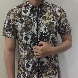 Kemeja Pendek Batik Printing