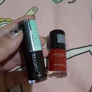 Lipstik Flarmar + Kutek Oriflame