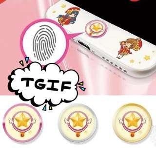 {代購} 百變小櫻Magic{代購} Iphone 6/6s/6plus 指紋感應Home Button貼