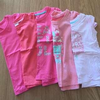 5xgirls Tshirts Size 5