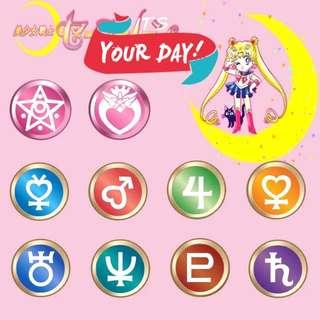 {代購} Sailor Moon美少女戰士Iphone 6/6s/6plus 指紋感應Home Button貼