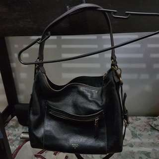 Authentic Fossil 2-way Hobo And Sling Bag
