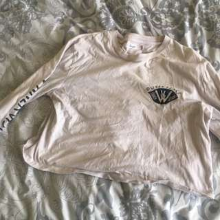 Wrangler Off White Crop Size 10