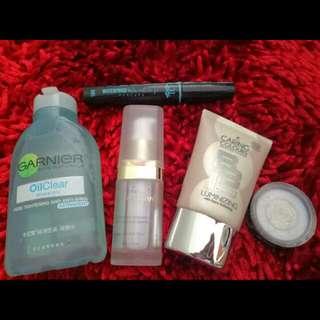 Preloved whitening serum , makeup