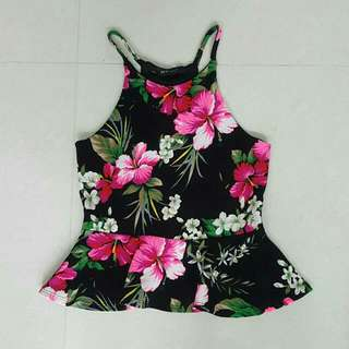 🚚 Floral Peplum - Great for CNY!