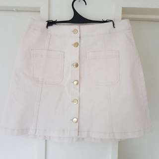 Light Pink A-line Skirt