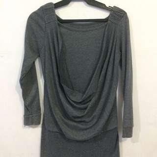 Gray Fit Blouse