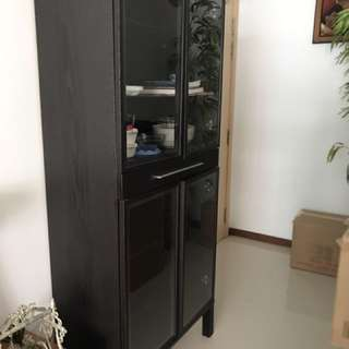 Wooden Cabinet With Glass Shutters