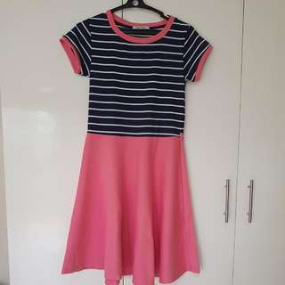 Blue Stripes and Pink Dress - Black Sheep