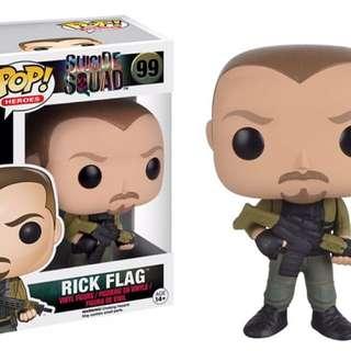 Original Funko Pop Suicide Squad Rick Flag #99