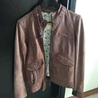Pull & Bear Brown Leather Jacket