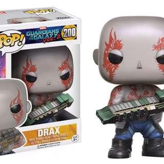 Original Funko Pop Drax Guardians Of The Galaxy Vol 2