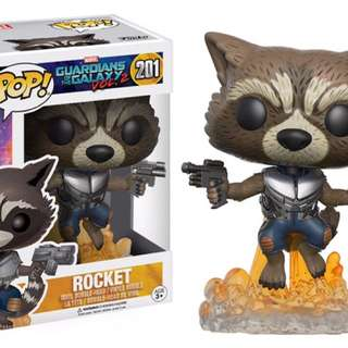 Original Funko Pop Rocket Guardians Of The Galaxy Vol 2