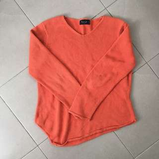 Orange Knitted Jumper